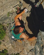 Rock Climbing Photo: Willardstyle on the top moves of Winds Of Fire 5.1...