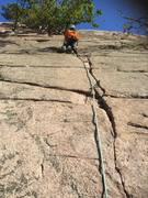 Rock Climbing Photo: Getting started in the lightning bolt looking crac...