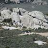 Practice Rock seen from atop Elephant Rock.