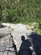 Rock Climbing Photo: From the top of Evening Falls