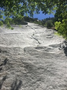 Rock Climbing Photo: Another picture of the first pitch. Not as steep a...