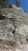 Rock Climbing Photo: Looking at the route from the shady belay location...