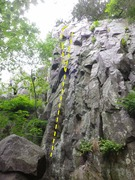 Rock Climbing Photo: Follow line straight to the top, hand jam crack va...