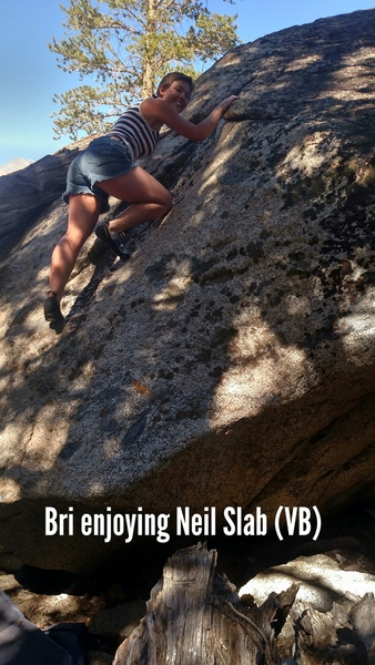 Rock Climbing Photo: Bri on Neil Slab!