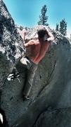 Rock Climbing Photo: Odin Boulder (Groove Train V0**)