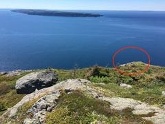 Rock Climbing Photo: This is the small outcrop under which you'll find ...