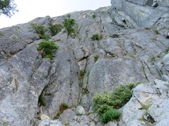Rock Climbing Photo: Looking up from base of Chessman Pinnacle. For Pit...