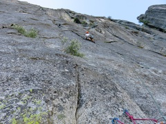 Rock Climbing Photo: Pitch 4 (first pitch off the top of Chessman Pinna...