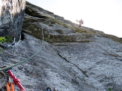 Rock Climbing Photo: Pitch 10. This section of the route is called the ...