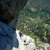 Matthew from Planet Granite Belmont Cruising up supertopo pitch 8. Totally classic, totally 5.9.