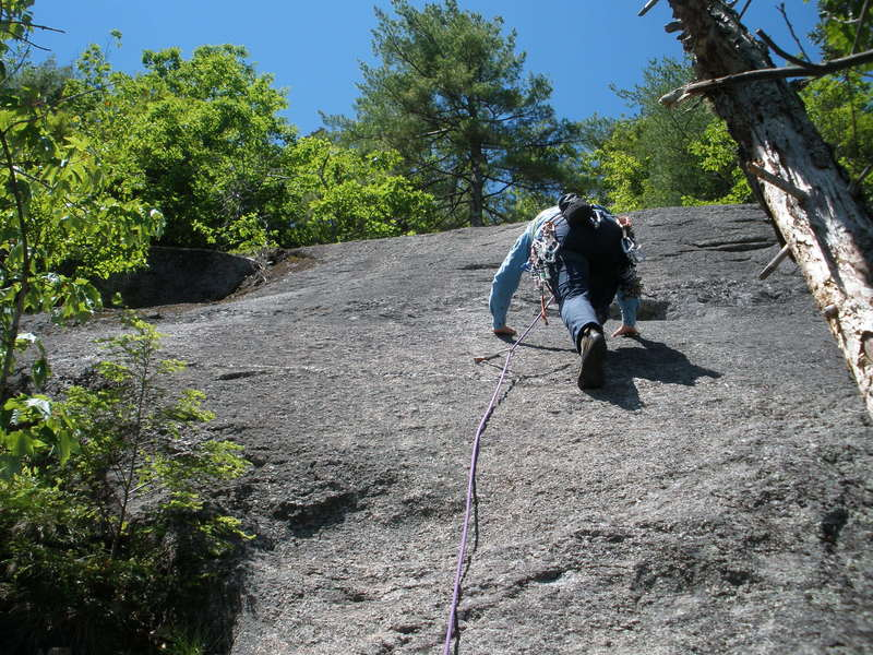 Rock Climbing Photo: RW on P3 of The Edge