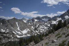 Rock Climbing Photo: Lookout Peak on the left above Ruby Lake - seen fr...