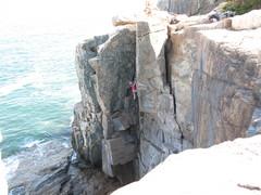 Rock Climbing Photo: Overhanging Corner