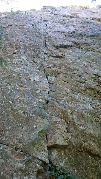 Rock Climbing Photo: Start of Dead Snag Direttissima