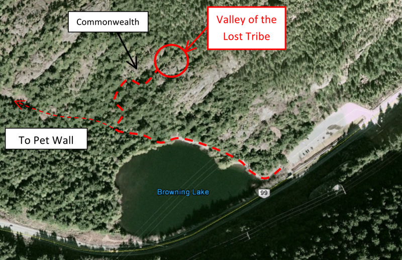 Rock Climbing Photo: Valley of the Lost Tribe Location Map