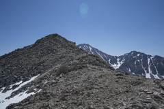 Rock Climbing Photo: Easy upper part of the South Ridge of Lookout Peak...