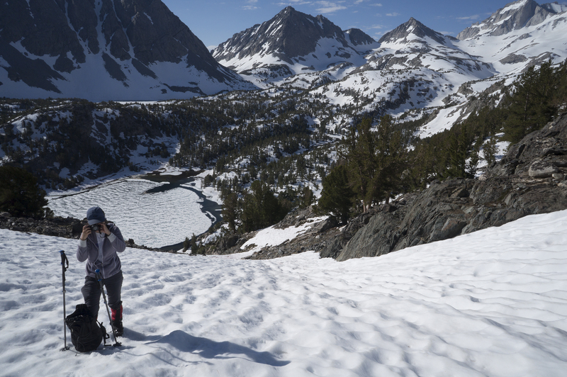 Rock Climbing Photo: Upper part of the approach gully when there's snow...