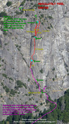 Rock Climbing Photo: Route Overlay for Absolutely Free.
