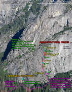 Rock Climbing Photo: Route Overlay for Absolutely Free & Positively 4th...
