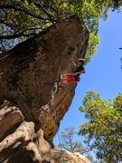 Rock Climbing Photo: Dan sending Donkey Dong