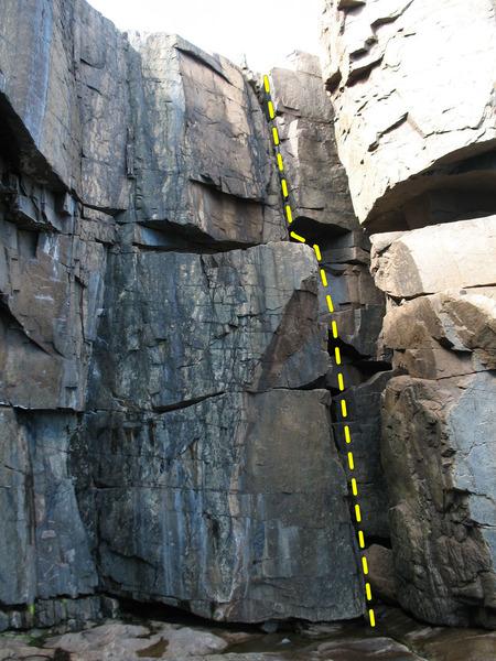 Rock Climbing Photo: Guillemot Crack