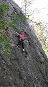 Rock Climbing Photo: Ava (four years old) climbing Peter Pan