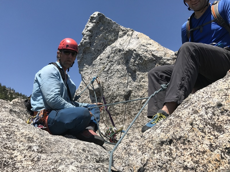 Rock Climbing Photo: At the top of North Ridge summit setting up rappel...