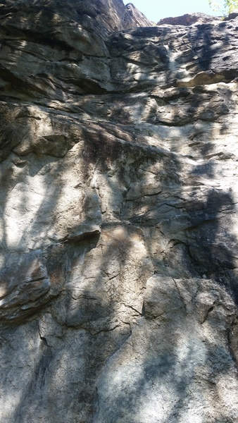 Rock Climbing Photo: You can see the chins at the top of the route.