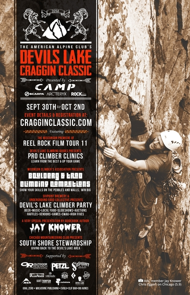 Crux of Chicago on the AAC craggin classic poster.  Jay Knower photo.