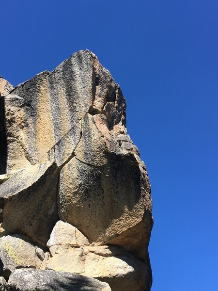 Rock Climbing Photo: The obvious steep hand crack. Too bad is not longe...