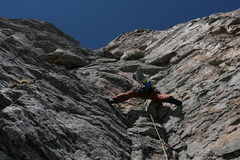 Rock Climbing Photo: Goods starting P4ish after I went too far on P3. K...