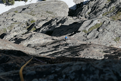 Rock Climbing Photo: Goods finishing up the P5 traverse.