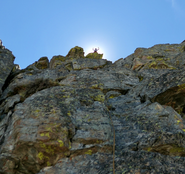 Rock Climbing Photo: Summit glory.