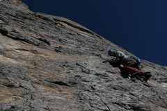 Rock Climbing Photo: This pitch is pretty serious.