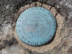 Rock Climbing Photo: The survey marker