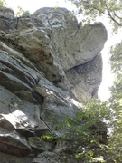Rock Climbing Photo: The roof! There is at least one climb going out th...