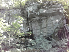Rock Climbing Photo: Visible from the AT. South of trail, faces northwe...