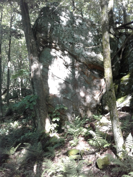 Rock Climbing Photo: Visible from the trail, easiest to see when hiking...