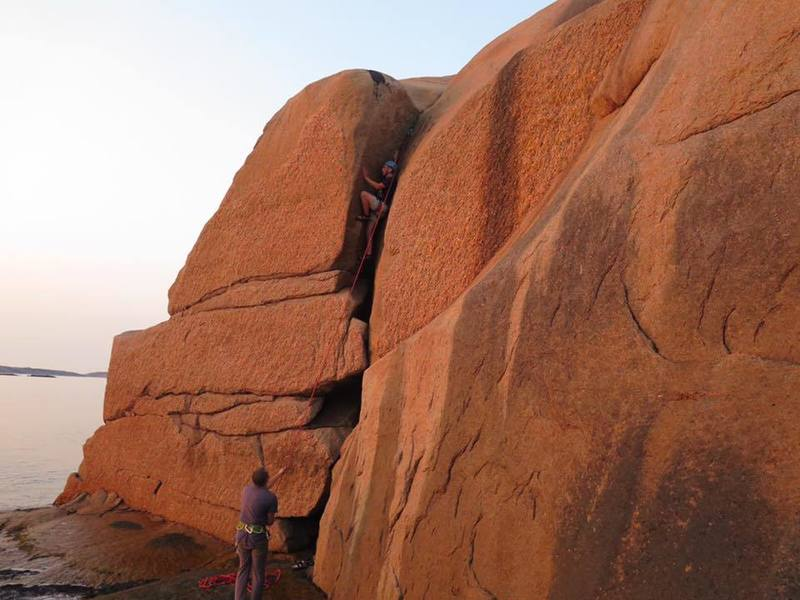 Rock Climbing Photo: This is the wall just below the little house that ...