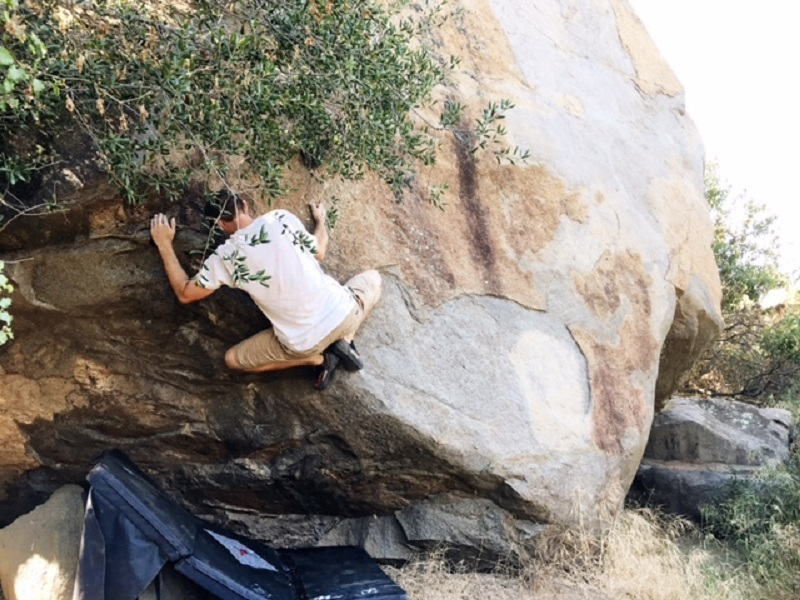 Rock Climbing Photo: Matched feet and send.