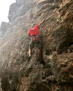 Rock Climbing Photo: Taking a fall at the Warming Wall.