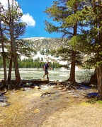 Rock Climbing Photo: Approach to TJ lake with frozen Lake George