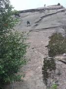Rock Climbing Photo: Trailing the next rope up Springaren.