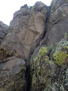 Rock Climbing Photo: A rope hanging on the climb.
