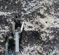 Rock Climbing Photo: Old bolts at belay station. Tried to get a single ...