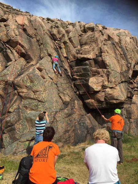 Rock Climbing Photo: One of the many top ropes in the area.