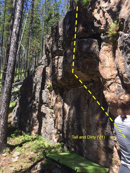 Rock Climbing Photo: Route moves left before going straight up the face...