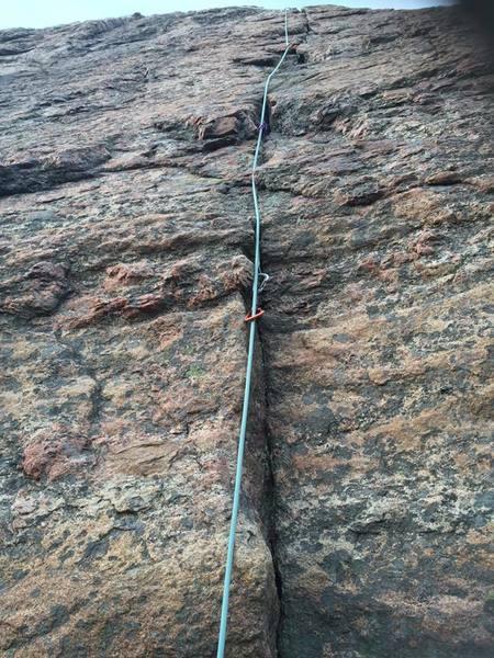 Rock Climbing Photo: Looking up Bjällran.