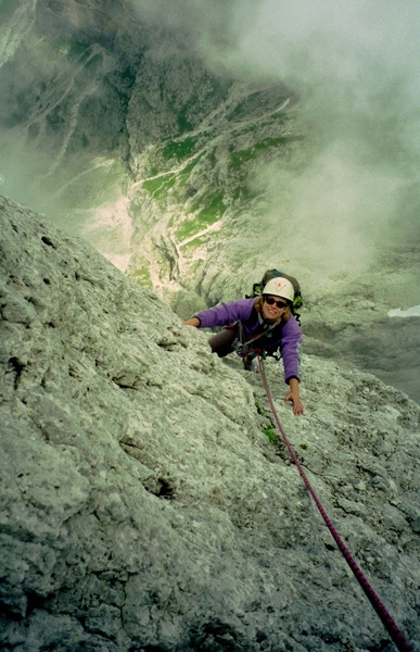 Rock Climbing Photo: View down the Velo Arete from the summit or therea...
