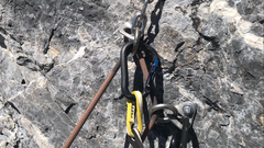Rock Climbing Photo: This is the top anchor, at the end of several mete...